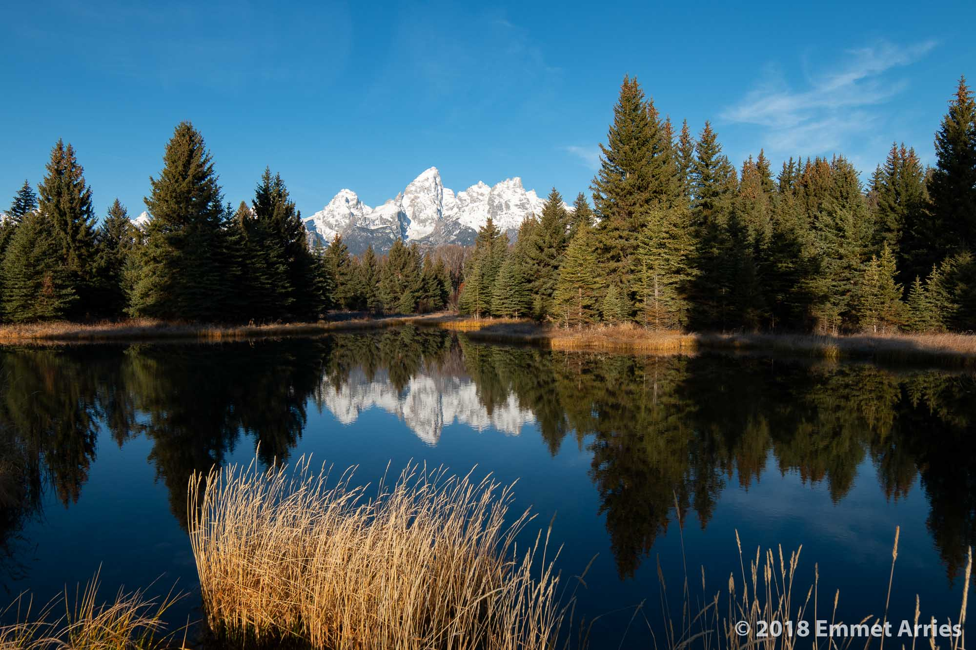 "There are many classic shots in Grand Teton National Park, including Schwabacher Landing. While I try to get unique images, sometimes it is worth trying ""the shot"" for the fun of it."